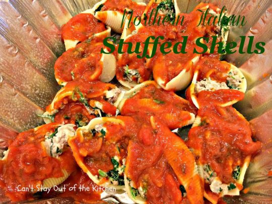 Northern Italian Stuffed Shells - IMG_1164