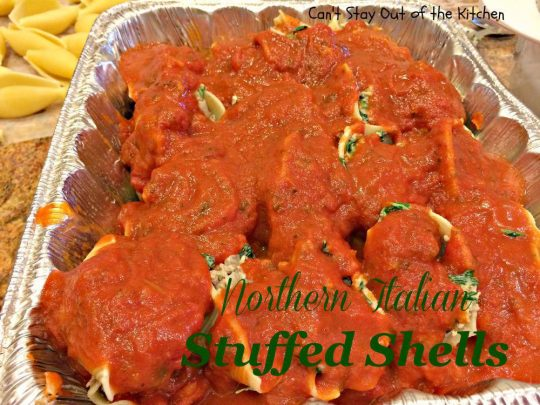Northern Italian Stuffed Shells - IMG_1168