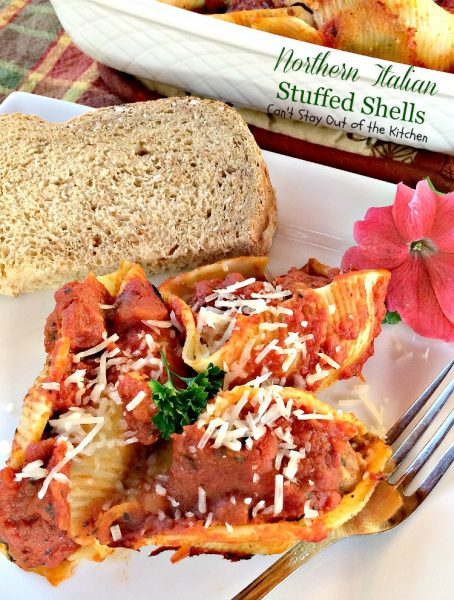 Northern Italian Stuffed Shells | Can't Stay Out of the Kitchen
