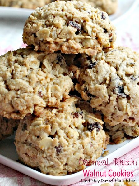 Oatmeal Raisin Walnut Cookies | Can't Stay Out of the Kitchen | an old-fashioned favorite #cookie filled with #raisins #oatmeal and #walnuts. Great for #holiday #baking. #dessert