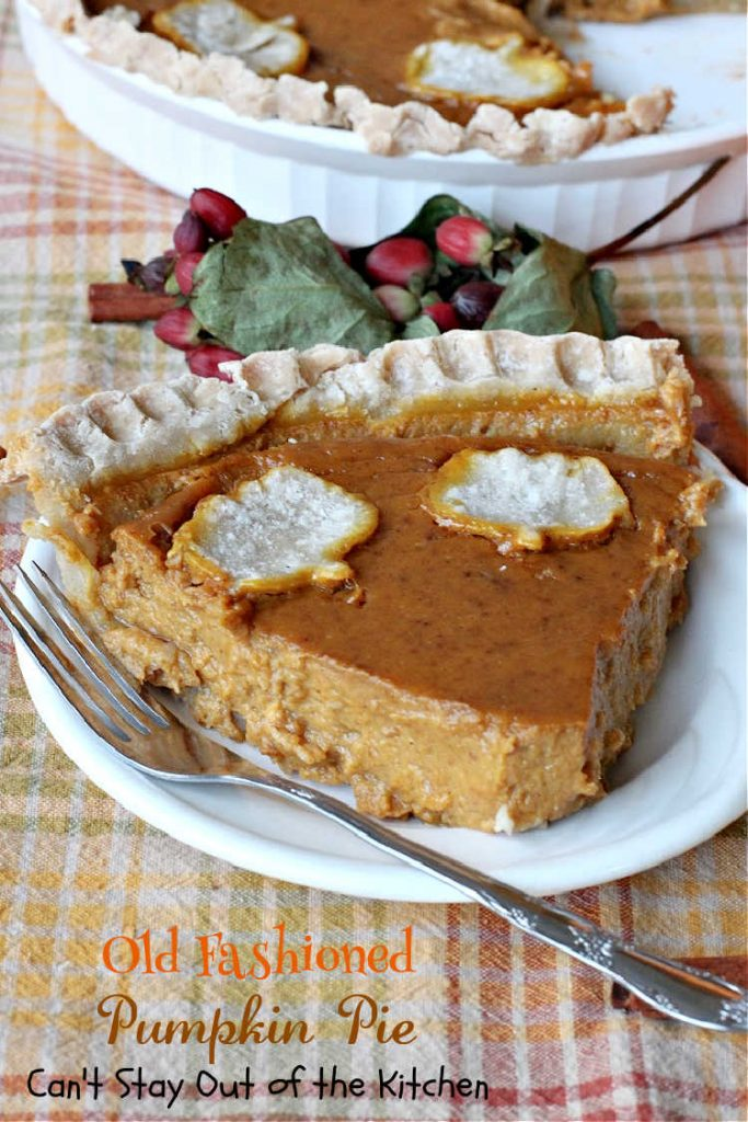 Old Fashioned Pumpkin Pie | Can't Stay Out of the Kitchen | the BEST #PumpkinPie ever! This vintage #BettyCrocker #recipe will have you drooling over every bite. Great for #Thanksgiving or #Christmas. #pie #dessert #pumpkin #PumpkinDessert #OldFashionedPumpkinPie