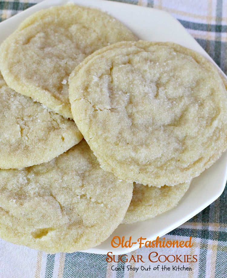 Old-Fashioned Sugar Cookies are great served with a glass of cold milk ...