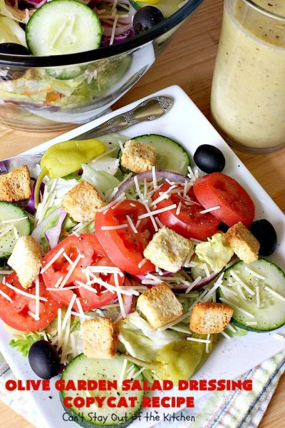 Olive Garden Salad Dressing Copycat Recipe | Can't Stay Out of the Kitchen | this is the BEST #OliveGarden #CopycatRecipe for #SaladDressing I've ever eaten. Absolutely delicious & can be mixed up in about 5 minutes! Wonderful for family, company or #holiday dinners. #salad #OliveGardenSaladDressing #OliveGardenSaladDressingCopycatRecipe