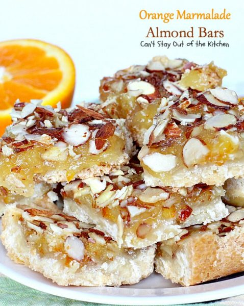 Orange Marmalade Almond Bars | Can't Stay Out of the Kitchen | these ...