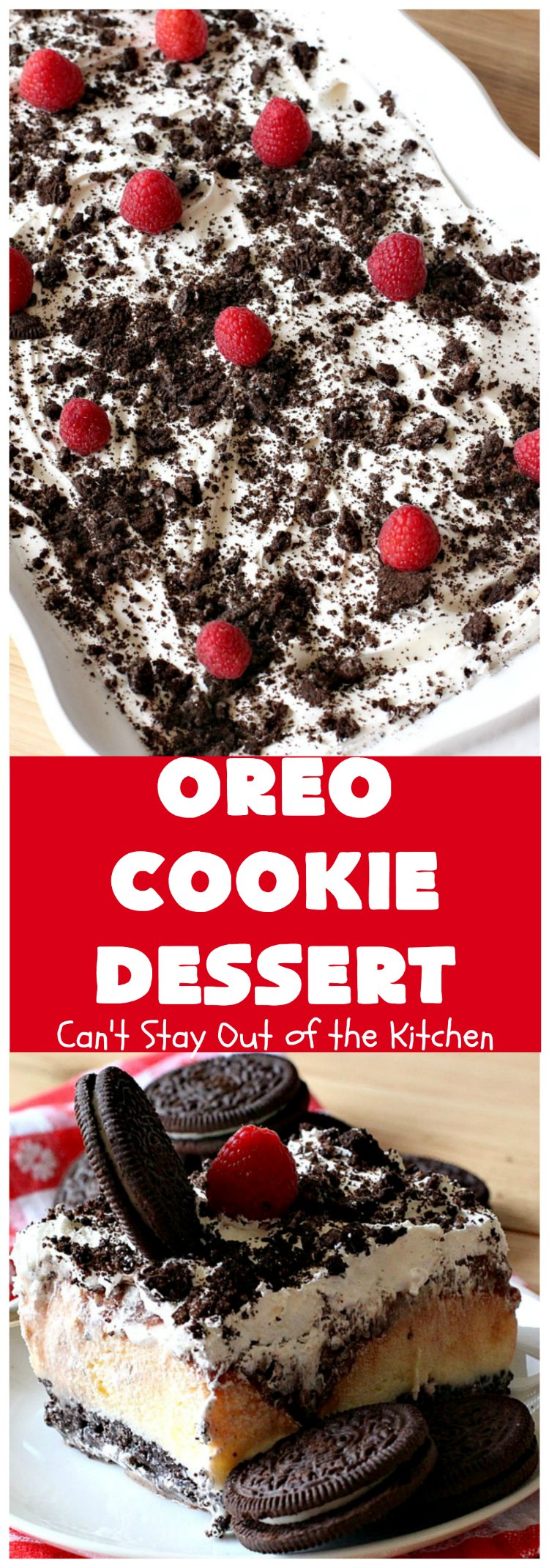 Oreo Cookie Dessert | Can't Stay Out of the Kitchen