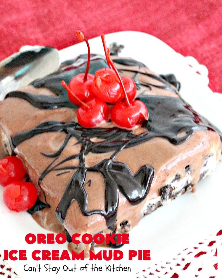 Oreo Cookie Ice Cream Mud Pie