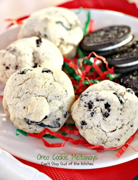 Oreo Cookie Meltaways | Can't Stay Out of the Kitchen