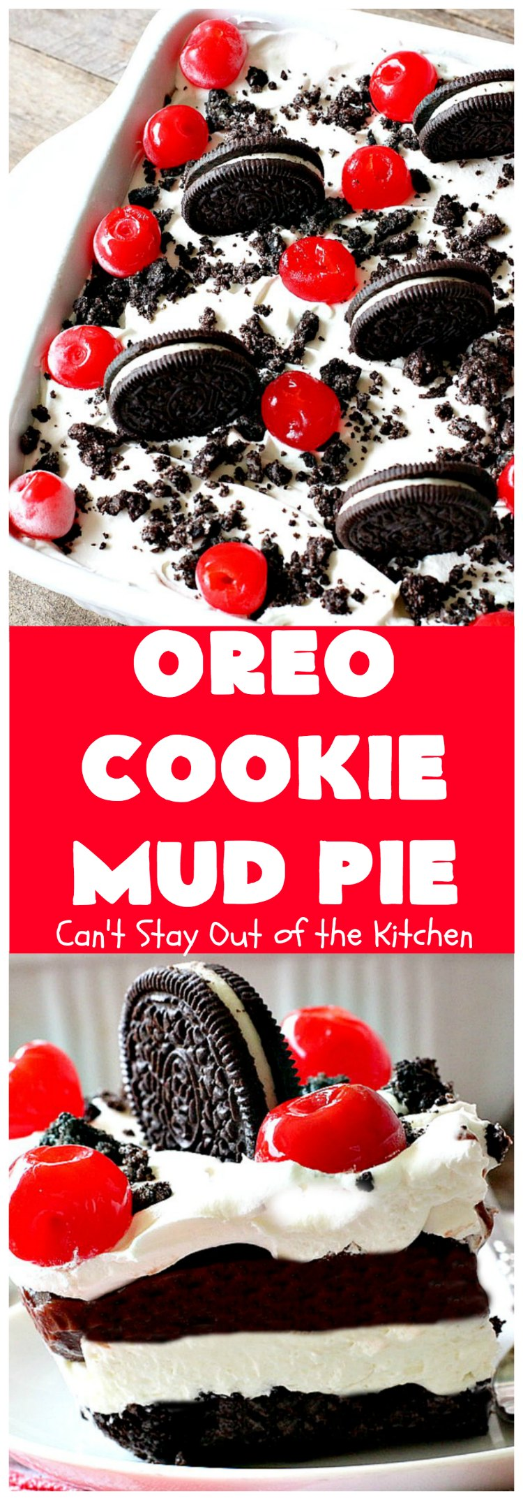 Oreo Cookie Mud Pie | Can't Stay Out of the Kitchen