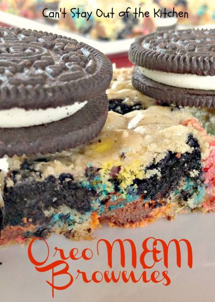 Oreo M&M Brownies - IMG_1607