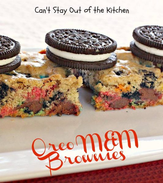 Oreo M&M Brownies - IMG_7265
