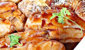 Oven Barbecued Chicken and Biscuits
