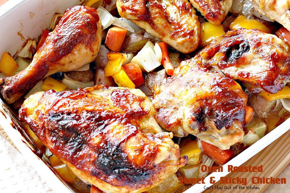Roast Chicken With Oven-Glazed Carrots And Warm Parsley Sauce Recipe ...