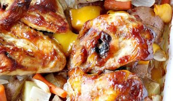 Oven Roasted Sweet and Sticky Chicken