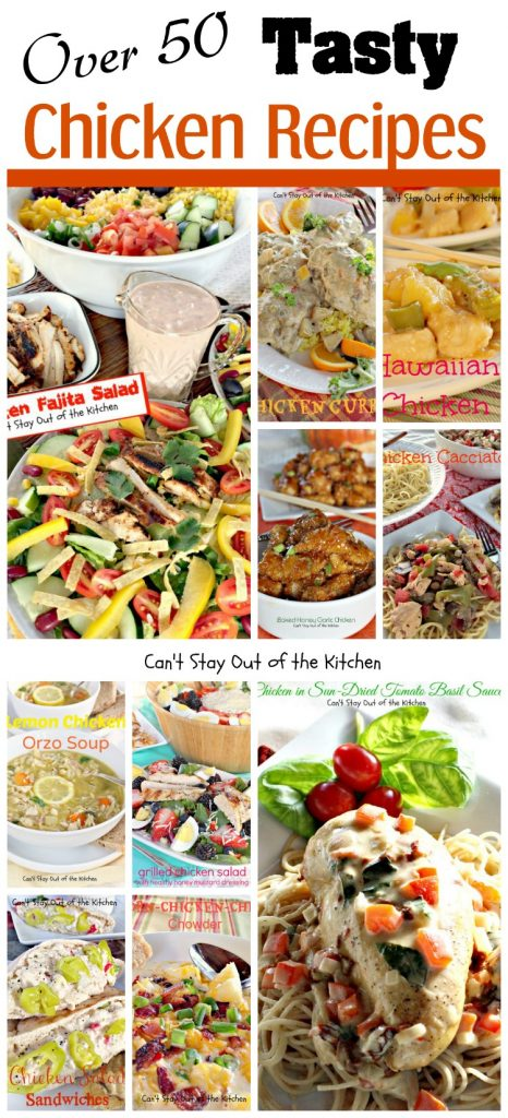 Over 50 Tasty Chicken Recipes Collage