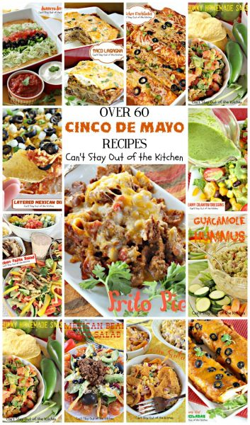 Over 60 Cinco de Mayo Recipes Collage