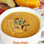 Panera Bread's Autumn Squash Soup | Can't Stay Out of the Kitchen | Amazing #copycat recipe with just a hint of #cinnamon and a touch of curry. This #soup is spectacular. #glutenfree #butternutsquash