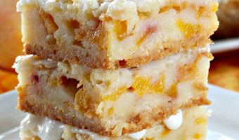 Peach Bars with Almond Drizzle
