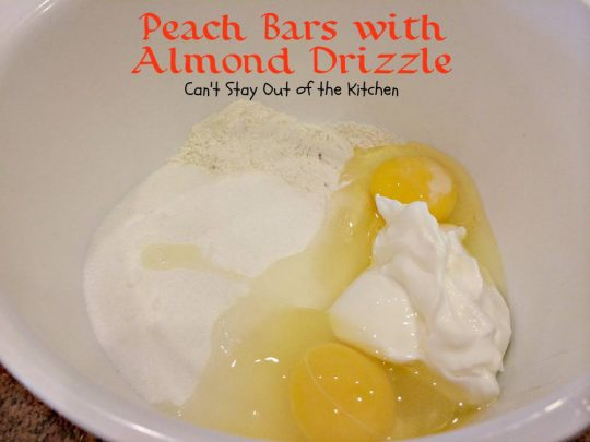 Place UNBLEACHED flour, sugar, salt, eggs and sour cream in a mixing ...