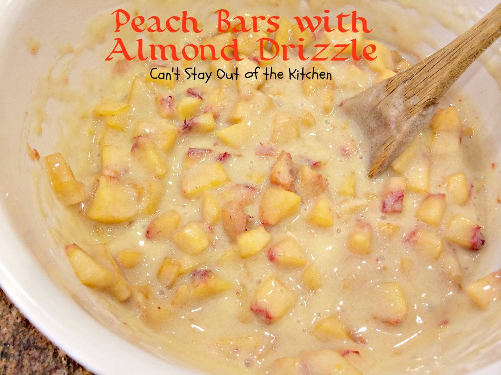 Peach Bars with Almond Drizzle | Can't Stay Out of the Kitchen ...
