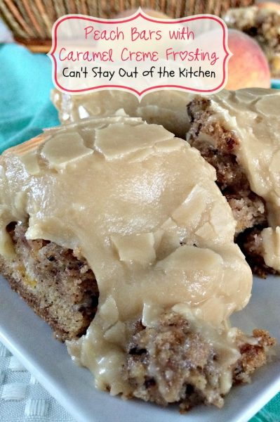 Peach Bars with Caramel Creme Frosting - IMG_7619