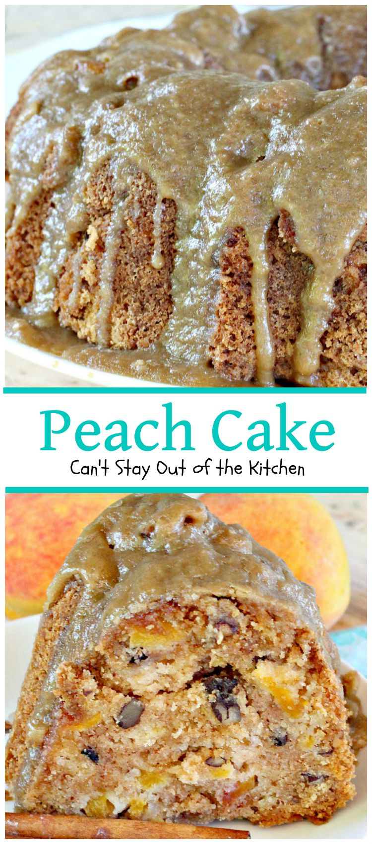Peach Kitchen Peach Dapple Cake Cant Stay Out Of The Kitchen