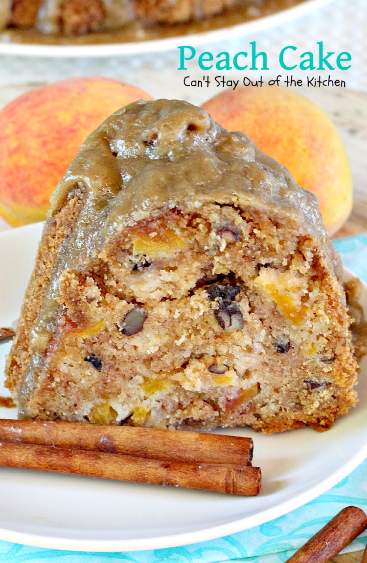 Peach Kitchen Peach Cake Cant Stay Out Of The Kitchen