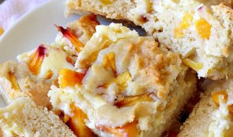 Peach Cobbler Cheesecake Brownies