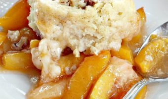 Peach Cobbler with Praline Filling