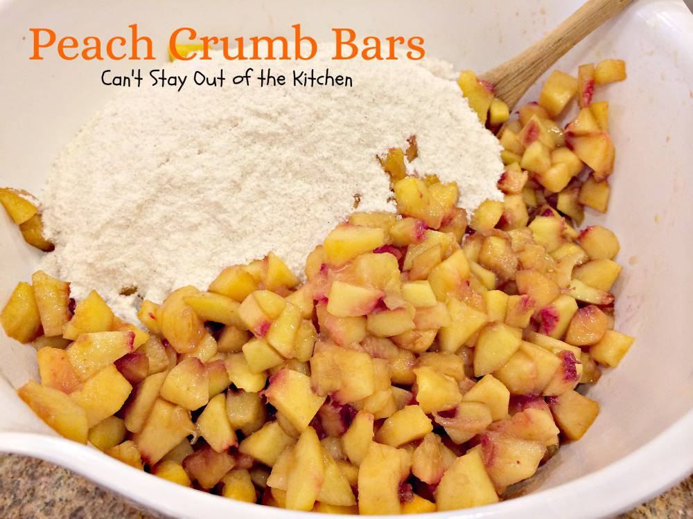 Peach Crumb Bars | Can't Stay Out of the Kitchen | lovely layered bars ...