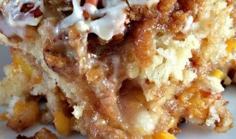 Peach Crunch Coffee Cake