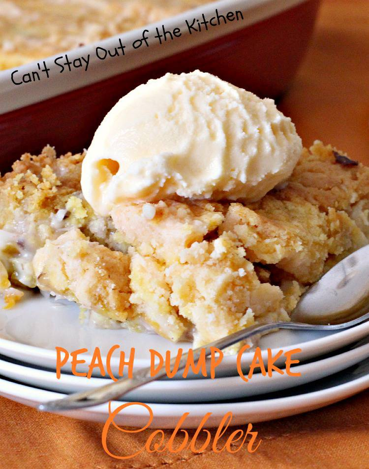 Peach and pineapple dump cake recipes