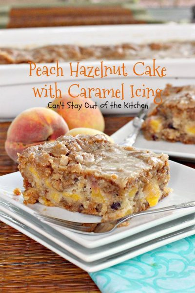 Peach Hazelnut Cake with Caramel Icing - IMG_9871