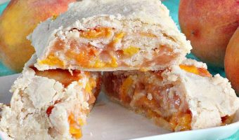 Peach Pie Crust Cinnamon Rolls