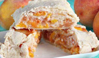 Peach Pie Crust Cinnamon Rolls