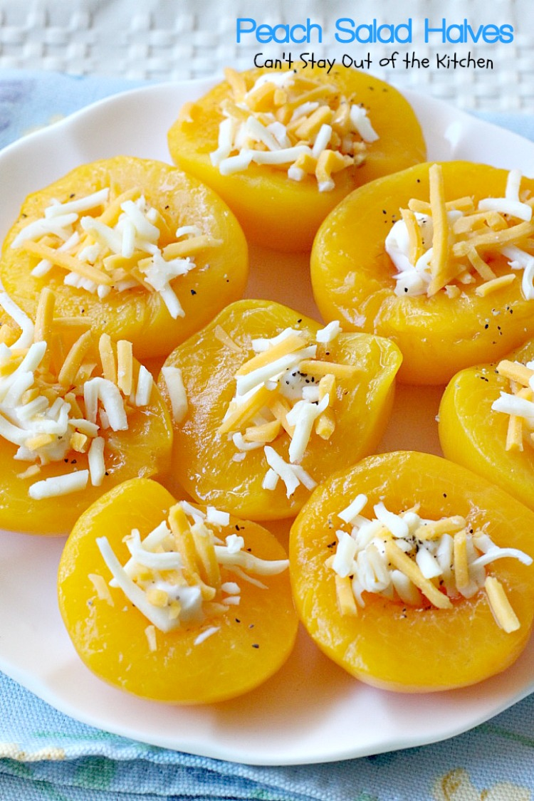 Peach Salad Halves