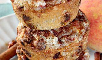 Peach Snickerdoodle Muffins