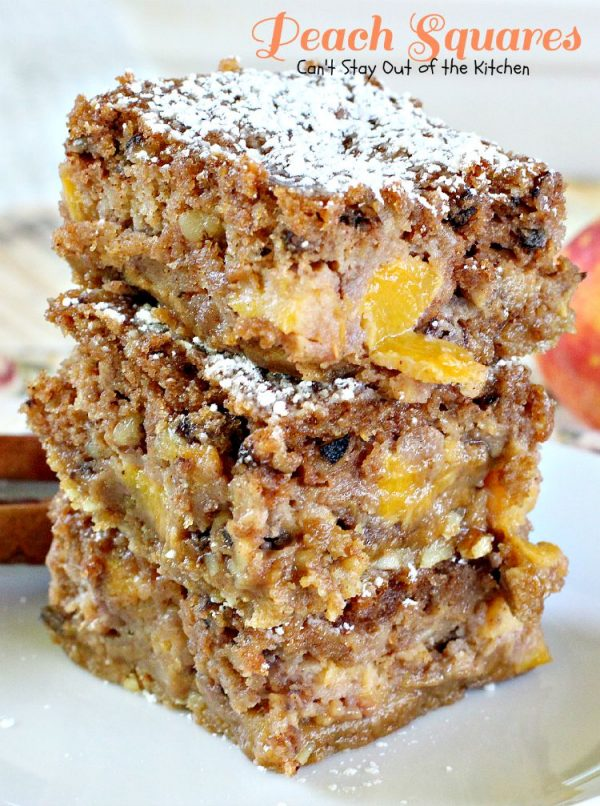 Peach Squares | Can't Stay Out of the Kitchen