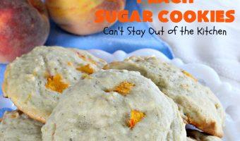 Peach Sugar Cookies