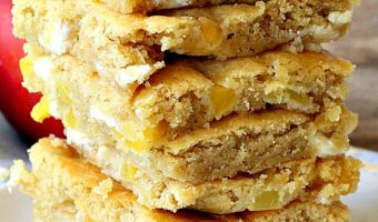 Peach White Chocolate Chip Blondies