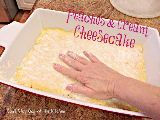 Peaches and Cream Cheesecake - IMG_8301