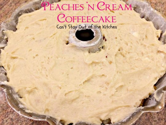 Peaches 'n Cream Coffeecake - IMG_6876