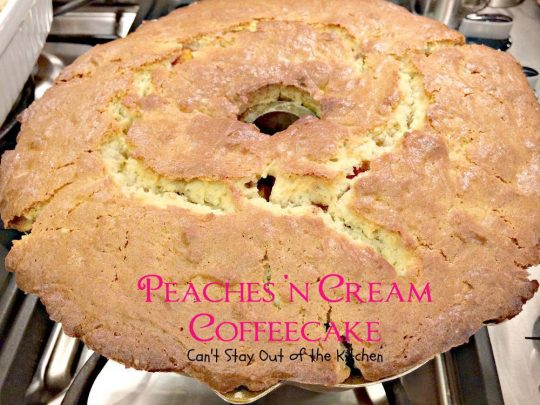 Peaches 'n Cream Coffeecake - IMG_6885