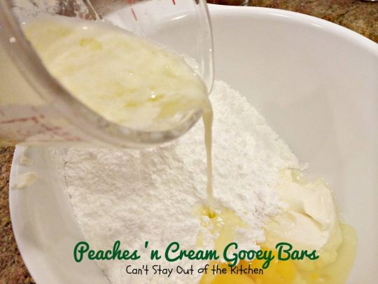 Peaches 'n Cream Gooey Bars - IMG_6479