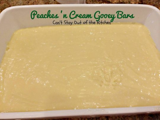 Peaches 'n Cream Gooey Bars - IMG_6482