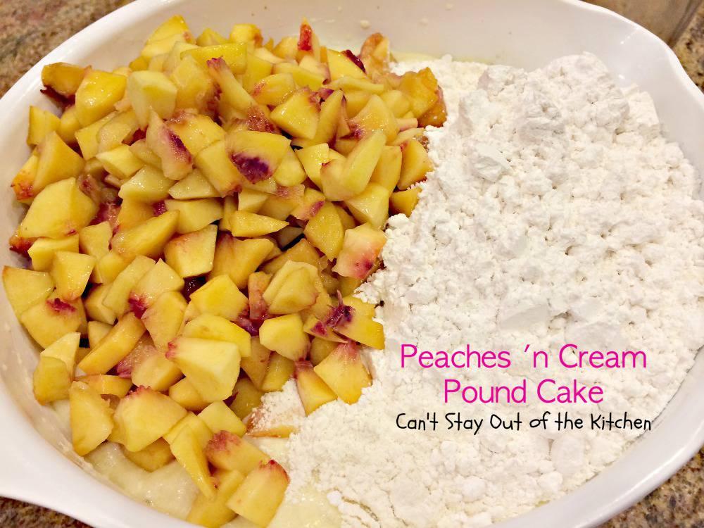 Peaches And Cream Cheese Pound Cake