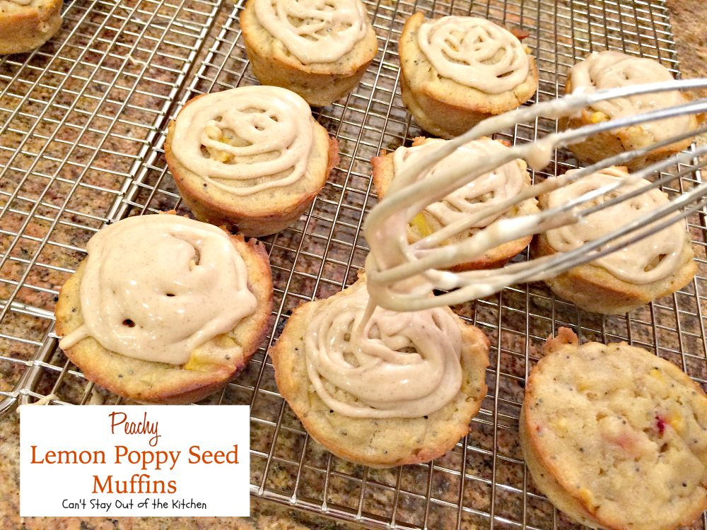 Peachy Lemon Poppy Seed Muffins | Can't Stay Out of the Kitchen ...