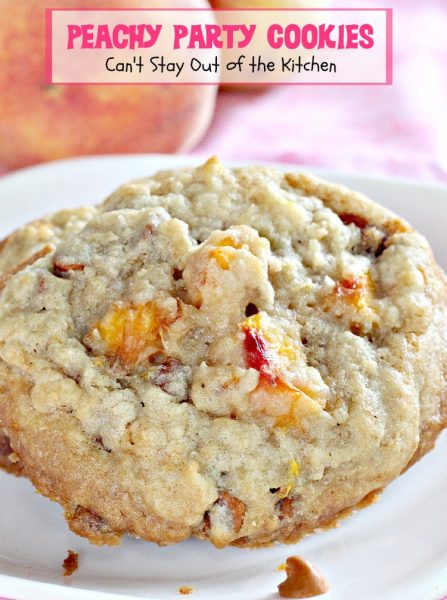 Peachy Party Cookies | Can't Stay Out of the Kitchen