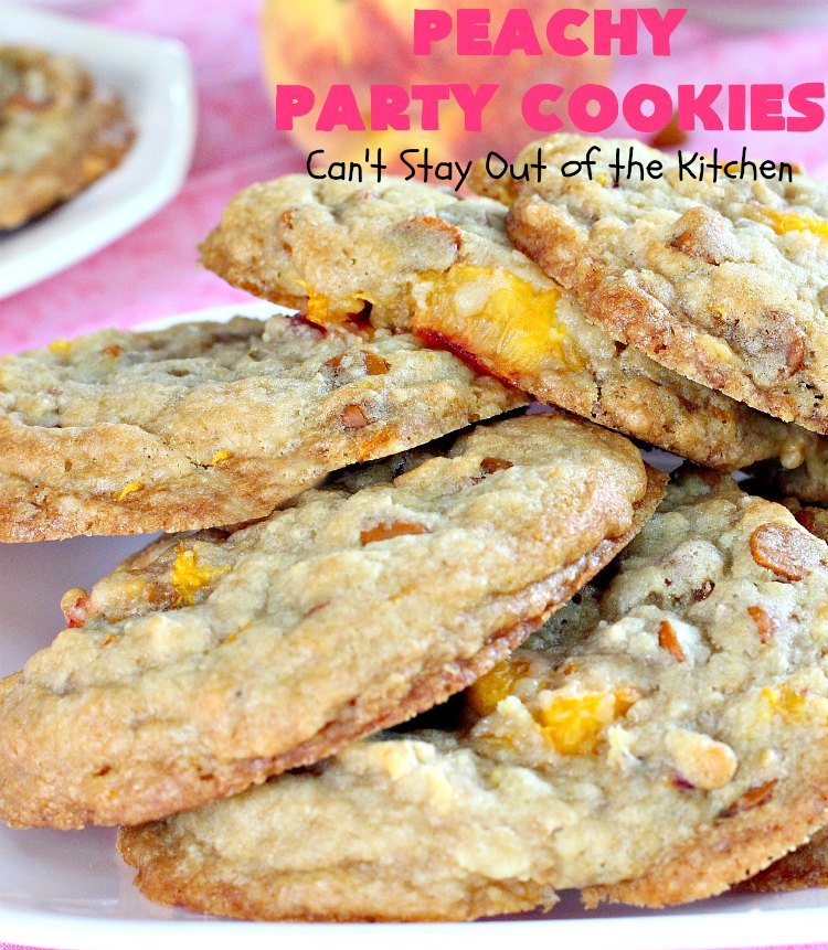 Peachy Party Cookies