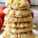 Peachy Vanilla Chip Cookies   Can't Stay Out of the Kitchen   these sensational #cookies include fresh #peaches, #walnuts & vanilla chips. They make a wonderful #dessert for summer potlucks when peaches are in season. #peachdessert