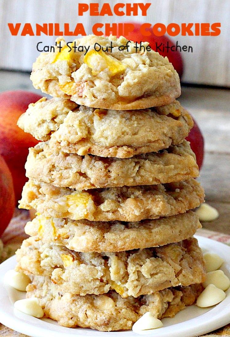 Peachy Vanilla Chip Cookies